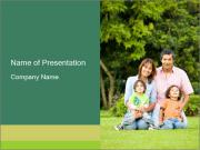 Happy family portrait PowerPoint Templates