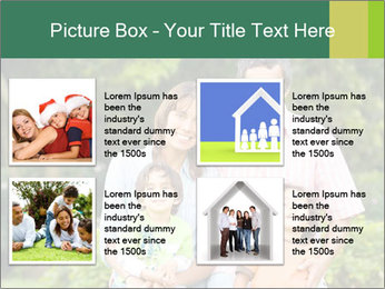 Happy family portrait PowerPoint Template - Slide 14