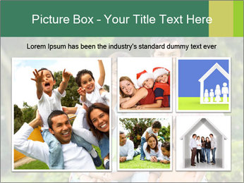 Happy family portrait PowerPoint Template - Slide 19