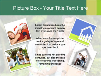 Happy family portrait PowerPoint Template - Slide 24