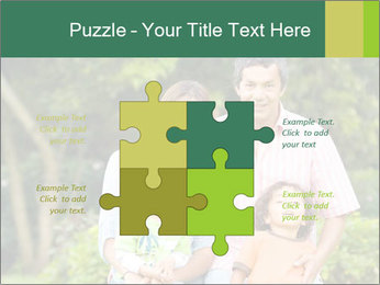 Happy family portrait PowerPoint Template - Slide 43