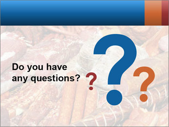Selection of cold meat PowerPoint Template - Slide 96