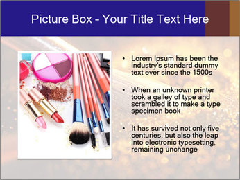 Close-up on brush and shining powder PowerPoint Template - Slide 13