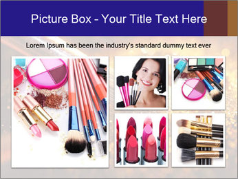 Close-up on brush and shining powder PowerPoint Template - Slide 19