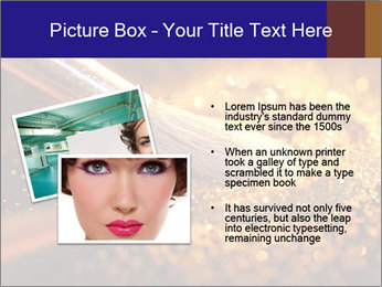 Close-up on brush and shining powder PowerPoint Template - Slide 20