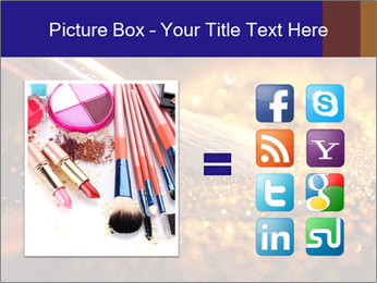 Close-up on brush and shining powder PowerPoint Template - Slide 21
