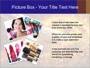 Close-up on brush and shining powder PowerPoint Template - Slide 23