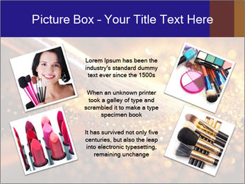 Close-up on brush and shining powder PowerPoint Template - Slide 24