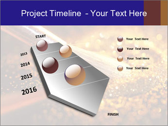 Close-up on brush and shining powder PowerPoint Template - Slide 26