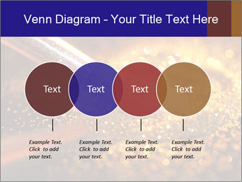 Close-up on brush and shining powder PowerPoint Template - Slide 32