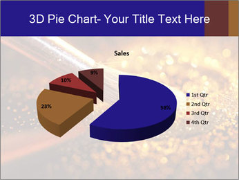Close-up on brush and shining powder PowerPoint Template - Slide 35