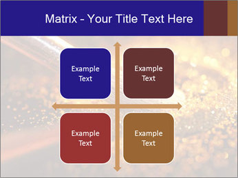 Close-up on brush and shining powder PowerPoint Template - Slide 37