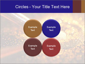 Close-up on brush and shining powder PowerPoint Template - Slide 38
