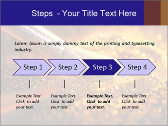 Close-up on brush and shining powder PowerPoint Template - Slide 4