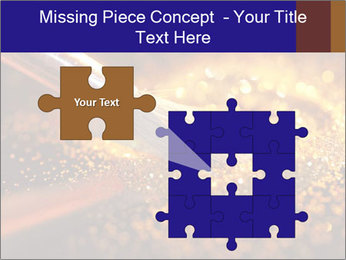 Close-up on brush and shining powder PowerPoint Template - Slide 45