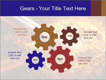 Close-up on brush and shining powder PowerPoint Template - Slide 47