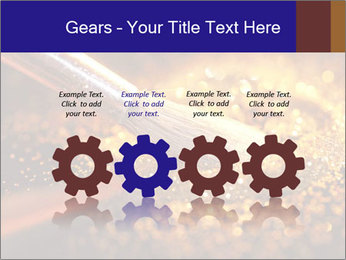Close-up on brush and shining powder PowerPoint Template - Slide 48