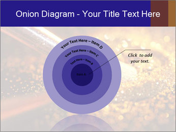 Close-up on brush and shining powder PowerPoint Template - Slide 61