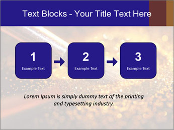 Close-up on brush and shining powder PowerPoint Template - Slide 71