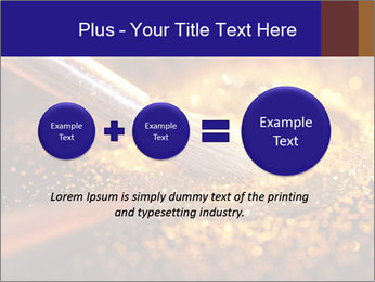 Close-up on brush and shining powder PowerPoint Template - Slide 75