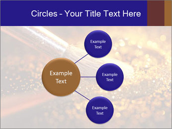 Close-up on brush and shining powder PowerPoint Template - Slide 79