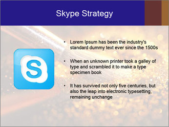 Close-up on brush and shining powder PowerPoint Template - Slide 8