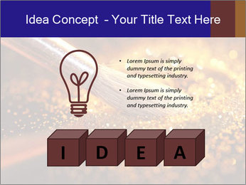 Close-up on brush and shining powder PowerPoint Template - Slide 80