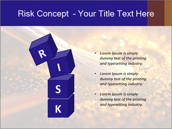 Close-up on brush and shining powder PowerPoint Template - Slide 81