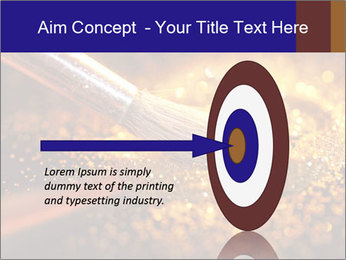 Close-up on brush and shining powder PowerPoint Template - Slide 83
