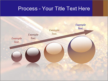 Close-up on brush and shining powder PowerPoint Template - Slide 87