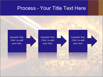 Close-up on brush and shining powder PowerPoint Template - Slide 88