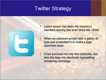 Close-up on brush and shining powder PowerPoint Template - Slide 9