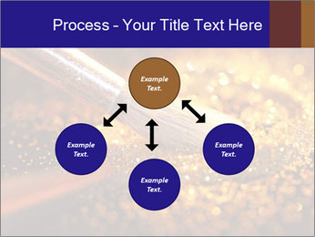 Close-up on brush and shining powder PowerPoint Template - Slide 91