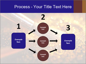 Close-up on brush and shining powder PowerPoint Template - Slide 92