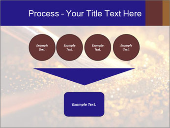 Close-up on brush and shining powder PowerPoint Template - Slide 93