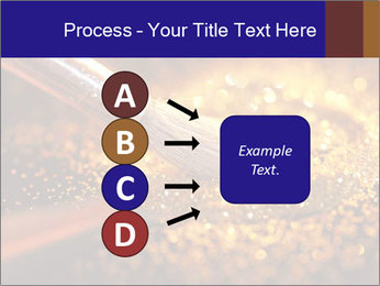 Close-up on brush and shining powder PowerPoint Template - Slide 94