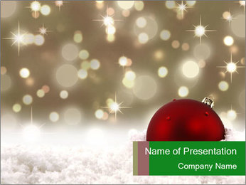 Red Christmas ball PowerPoint Templates - Slide 1