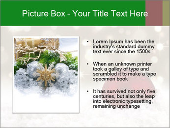 Red Christmas ball PowerPoint Templates - Slide 13