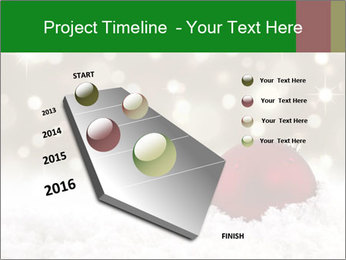 Red Christmas ball PowerPoint Templates - Slide 26