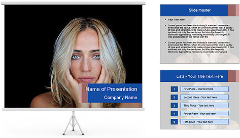Lonely and depressed PowerPoint Template