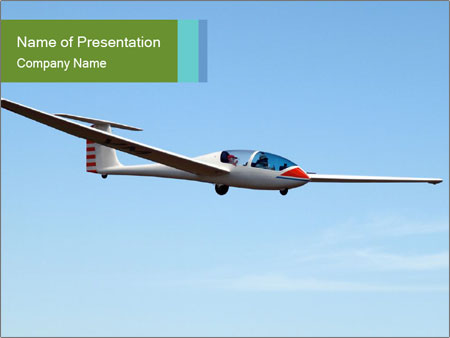 Glider Type G193 Twin II PowerPoint Template