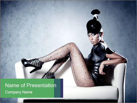 Beautiful african woman PowerPoint Template