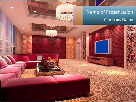 Modern design room PowerPoint Template