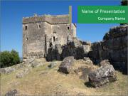 Tower of Ragio in Greece. PowerPoint Template