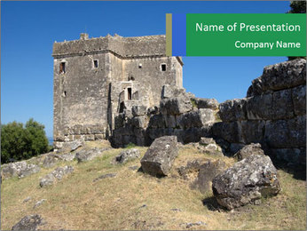 Tower of Ragio in Greece. PowerPoint Templates - Slide 1