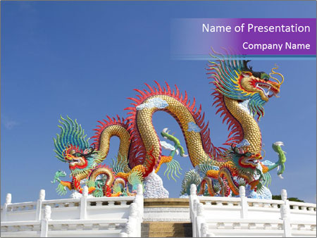 chinese dragon powerpoint template & backgrounds id 0000087044, Powerpoint templates
