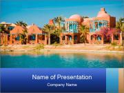 Resort views PowerPoint Template