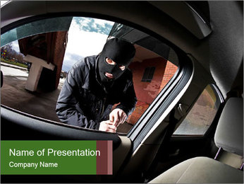 Robber PowerPoint Template - Slide 1
