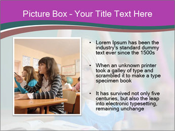 Girl raising hand in classroom PowerPoint Templates - Slide 13