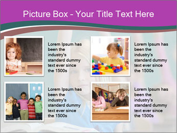 Girl raising hand in classroom PowerPoint Templates - Slide 14